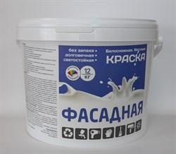 Краска ВД Эмальер Фасадная белоснежная 12 кг. ПРОМО - фото 12110
