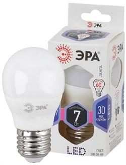 Лампа светодиодная  ЭРА LED smd P45- 7w-860-E27 - фото 17261