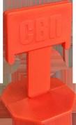 СВП Зажим  Флажок  1,4 мм оранжевый 100 шт, пакет (20пак/короб)