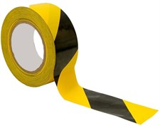 Лента для ограждений 50ммх200м черно-желтая 6шт/уп