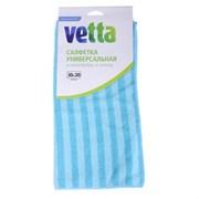 Vetta Салфетка из микрофибры, универсальная 30х30см, полоска 4 цвета