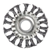 Щетка для болгарки и УШМ 100мм D22  тарелка  крученая проволока, ЕРМАК