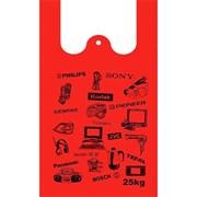 Пакет майка ПНД 38см+20сих72см 18мкТехника красный