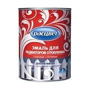 Эмаль для радиаторов отопления «РАСЦВЕТ» алкидная для наружных и внутренних работ белая 1 кг 14шт/уп