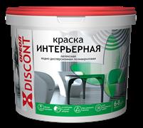 Краска ВД  ОРЕОЛ ДИСКОНТ  интерьерная полиакриловая белая матовая 1.5 кг (6шт/уп)