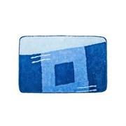 Коврик для ванной, акрил. 50х80см,  Квадраты , голубой
