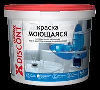 Краска ВД  ОРЕОЛ ДИСКОНТ   моющаяся полиакриловая белая матовая 1,5 кг (6шт/уп)
