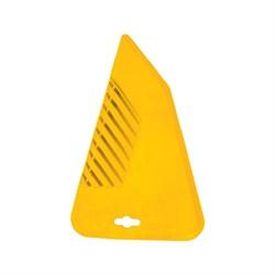 Шпатель обойный пластиковый 300мм желтый ,Бибер - фото 10560