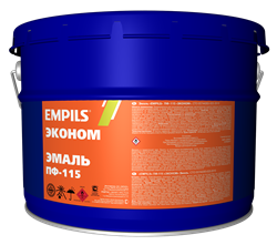 Эмаль EMPILS ПФ-115 «ЭКОНОМ» светло-голубая 10 кг - фото 11996