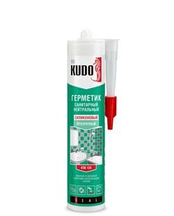 Герметик KUDO KSK-130 нейтральный санитарный прозрачный 280 мл (12шт) - фото 12125