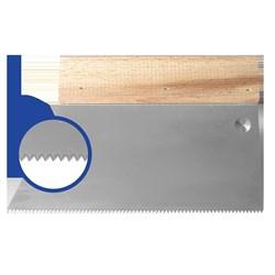 Шпатель с деревянным держателем 180мм, зуб S2 (5х4мм) прямая трапеция  Наш инструмент - фото 15520