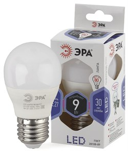 Лампа светодиодная  ЭРА LED smd P45- 9w-860-E27 - фото 17481