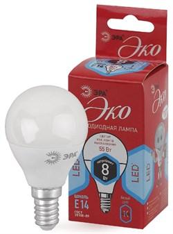 Лампа светодиодная  ЭРА LED smd P45- 8w-840-E14 ECO - фото 17512