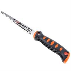 Ножовка для гипсокартона 150мм FALCO 2-х комп. черно-оранжевая гориз. ручка в индивид. упаковке - фото 19333