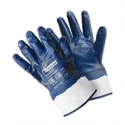 Перчатки хлопчатобумажные с полиэстер. с нитриловым покрытием с манжетой-крагой,Fiberon,10(XL) - фото 21326