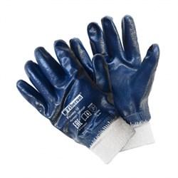 Перчатки хлопчатобумажные с полиэстер. с нитриловым покрытием с манжетой-резинкой,Fiberon,10(XL) - фото 21327