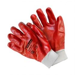 Перчатки из полиэстера с хлопком с ПВХ покрытием, полный облив, 10(XL) Fiberon (арт. PSV025P) - фото 21456