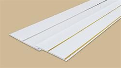 Панель потолочная  двухсекционная 250мм 3,0м  Идеал Глосси  001-2 белый с серебром (10шт/уп) - фото 22524