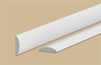 Нащельник стыковой округлый 18мм 2,7м белый (30шт/уп) - фото 22533