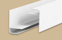 Профиль  F  для панелей 8мм 3,0м  Идеал Санни  001-G белый глянец (25шт/уп) - фото 22623