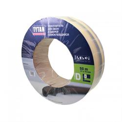 Уплотнитель для окон D 50mx21mmx15mm Черный Tytan Professional - фото 22733
