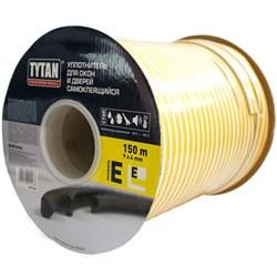 Уплотнитель для окон E 150mx9mmx4mm Черный Tytan Professional - фото 22736