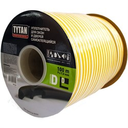 Уплотнитель для окон D 100mx9mmx7,5mm Коричневый Tytan Professional - фото 22738