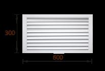 Решетка радиаторная ПВХ белая (30х60) - фото 23414