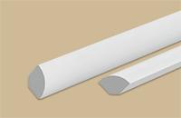 Угол внутр. вспенен округлый 10х10мм белый 2,7м (30шт/уп) - фото 23785