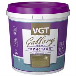 Состав лессирующий ВГТ  Gallery  с эффектом  Кристалл  золото 0,9кг(6шт) - фото 25959