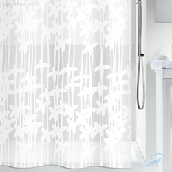 VETTA Шторка для ванной ПЕВА 180х180 белые цветы - фото 5139