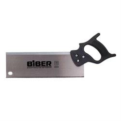 Ножовка для стусла 300мм БИБЕР мелкий зуб, черная пластиковая  ручка - фото 5404