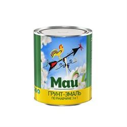 Грунт-эмаль МАЙ на ржавчину 3 в 1 салатная, банка 1,9 кг (6шт) - фото 5665
