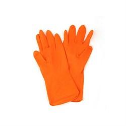 Перчатки резиновые  VETTA PREMIUM оранжевые M - фото 6309