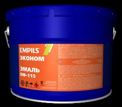 Эмаль EMPILS ПФ-115 «ЭКОНОМ» красная 10 кг - фото 6515