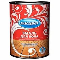 Эмаль для пола быстросохнущая Расцвет красно-коричневая 0.9 кг (14шт/уп) - фото 6596