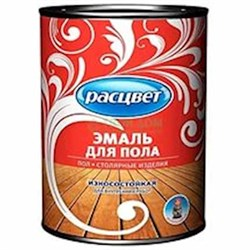 Эмаль для пола быстросохнущая Расцвет красно-коричневая 1.9 кг (6шт/уп) - фото 6597