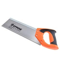Ножовка для стусла 300мм ЕРМАК зуб 4мм,шаг 4мм, 2-х комп. черно-оранжевая ручка - фото 7912