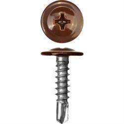 Прессшайба RAL 8017 4,2/19 сверло (1000шт) шоколадно-коричневый - фото 9448