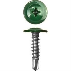 Прессшайба RAL 6005 4,2/13 сверло (1000шт) зеленый мох - фото 9459