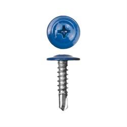 Прессшайба RAL 5005 4,2/13 сверло (1000шт) сигнальный синий - фото 9462