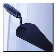 Кельма (мастерок) печника с пласт. черной ручкой, крашенн. сталь, Наш Инструмент