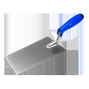 Кельма (мастерок) отделочника (трапеция) 200мм, нерж. сталь, с пласт синей ручкой, Наш инструмент