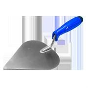 Кельма (мастерок) штукатура (сердечко) 180мм, нерж. сталь, с пласт. синей ручкой, Наш инструмент