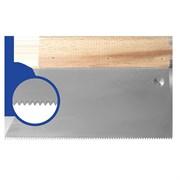 Шпатель с деревянным держателем 180мм, зуб S2 (5х4мм) прямая трапеция  Наш инструмент