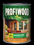 Антисептик PROFIWOOD 3 в 1 лаковый атмосферостойкий алкидный бесцветный 2,4 кг