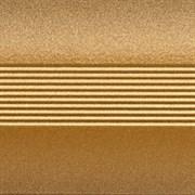 Стык 42мм 0,9 золото с резиновой вставкой