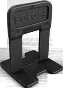 Зажим  Ворота  1,4 мм, черный (100 шт пакет) СВП