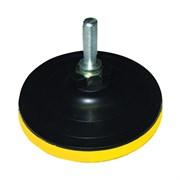 Шлиф круг резиновый для дрели и болгарки D125 с липучкой+переходник  Бибер