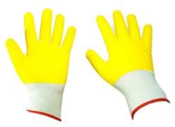 Перчатки желтый, зеленый облив